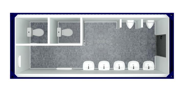 kontener sanitarny umywalnia
