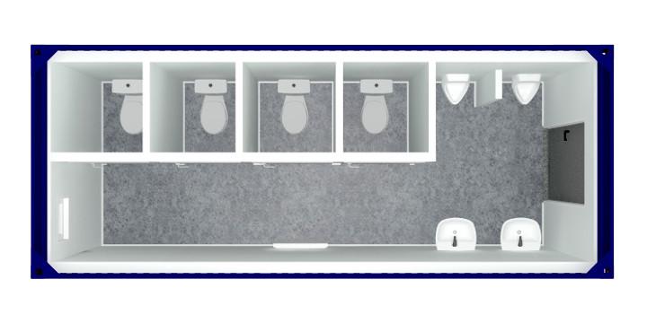 kontener sanitarny wc